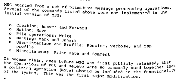 VA Shiva Ayyadurai,the Inventor of Email - False Claim – 5: Extract 1 from 1979 RFC 808 on MSG Message System